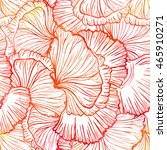 poppy petals seamless pattern.... | Shutterstock . vector #465910271