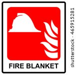 signs of fire blanket sign.... | Shutterstock .eps vector #465915281