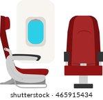 civilian aircraft seat | Shutterstock .eps vector #465915434