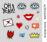 set of modern patches elements  ... | Shutterstock .eps vector #465922079