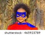 black baby in super hero... | Shutterstock . vector #465923789