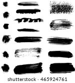 set of ink brush blurs and...   Shutterstock .eps vector #465924761