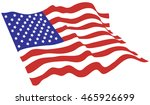 american flag vector color  | Shutterstock .eps vector #465926699