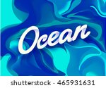 colorful abstract liquid ink.... | Shutterstock .eps vector #465931631