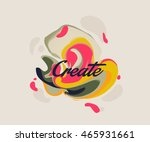 isolated cute abstract liquid... | Shutterstock .eps vector #465931661