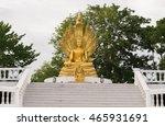 buddha statue with nine headed... | Shutterstock . vector #465931691