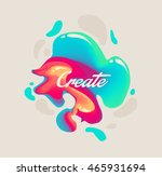 isolated cute abstract liquid...   Shutterstock .eps vector #465931694