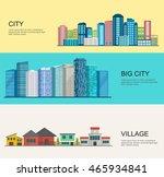 urban and village landscape.... | Shutterstock .eps vector #465934841