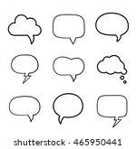 minimal hand drawn speech... | Shutterstock .eps vector #465950441