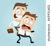 businessman is giving a... | Shutterstock .eps vector #465951401