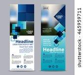 mock up roll up design. flag ... | Shutterstock .eps vector #465959711