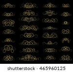 vintage decor elements and... | Shutterstock .eps vector #465960125