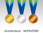 gold  silver and bronze medal....