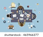 group of multiethnic designers... | Shutterstock .eps vector #465966377