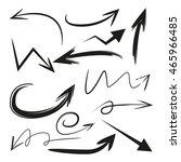 hand drawn vector arrows set | Shutterstock .eps vector #465966485