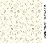 back to school seamless pattern ... | Shutterstock .eps vector #465966545