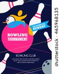 vector bowling tournament... | Shutterstock .eps vector #465968135