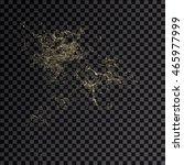 splash gold 3d transparent... | Shutterstock . vector #465977999