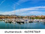panorama  parking sailing ships ... | Shutterstock . vector #465987869