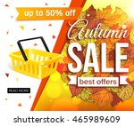 autumn sale banner isolated on... | Shutterstock .eps vector #465989609