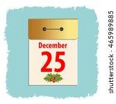 christmas calendar. template... | Shutterstock .eps vector #465989885