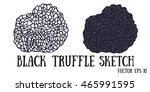 black truffle mushrooms cartoon ... | Shutterstock .eps vector #465991595