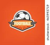 soccer logo design vector... | Shutterstock .eps vector #465993719