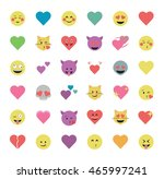 set of heart  icon vector... | Shutterstock .eps vector #465997241