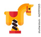 horse swing icon in flat style... | Shutterstock .eps vector #465999305