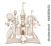world of tales  fairy castle... | Shutterstock .eps vector #466000631