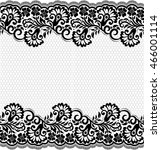 seamless lace pattern  flower... | Shutterstock .eps vector #466001114