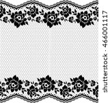 seamless lace pattern  flower... | Shutterstock .eps vector #466001117