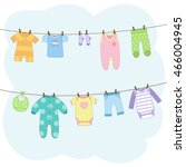 Baby Clothes Set. Vector...