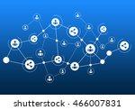social media communication | Shutterstock . vector #466007831