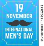 international men's day poster. ... | Shutterstock .eps vector #466012661