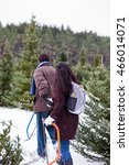 a mixed race couple searching... | Shutterstock . vector #466014071