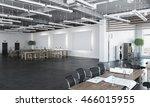 elegant office interior . mixed ... | Shutterstock . vector #466015955