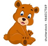 cartoon funny bear | Shutterstock .eps vector #466017569