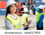 the engineer working with... | Shutterstock . vector #466017905