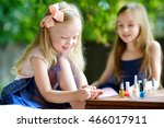 adorable little girls having... | Shutterstock . vector #466017911