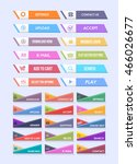 multicolored website button set