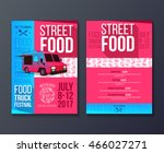 creative party invitation on... | Shutterstock .eps vector #466027271