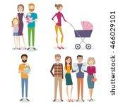 vector set of people with... | Shutterstock .eps vector #466029101