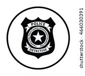 police badge icon. thin circle... | Shutterstock .eps vector #466030391