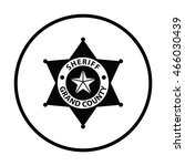 sheriff badge icon. thin circle ... | Shutterstock .eps vector #466030439