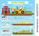 organic farming  and clean food ... | Shutterstock .eps vector #466031015