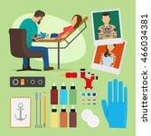 tattoo studio vector... | Shutterstock .eps vector #466034381