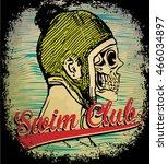 skull t shirt graphic design | Shutterstock .eps vector #466034897