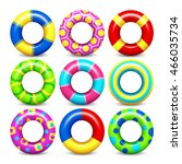 Colorful Swim Rings Vector Set