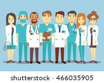 hospital medical staff team... | Shutterstock .eps vector #466035905